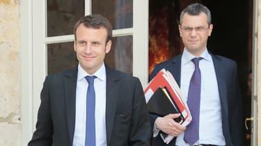 Emmanuel Macron et Alexis Kohler, secrétaire général de l'Elysée