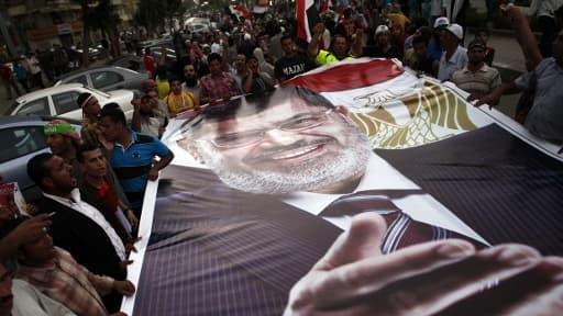 Des partisans de Mohamed Morsi le 7 juillet 2013 au Caire.