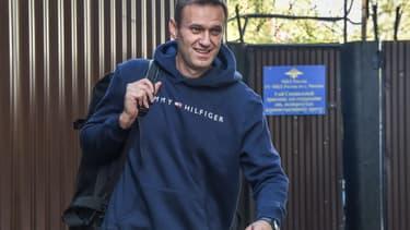 Alexeï Navalny sortant de prison