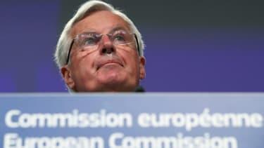 Le négociateur européen Michel Barnier s'exprime lors d'une conférence de presse à Bruxelles sur les négociations sur le Brexit, le 5 juin 2020
