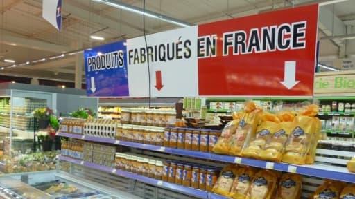 Le supermaché Leclerc de Lanester a inauguré ce 28 janvier son rayon dédié aux produits Made In France.