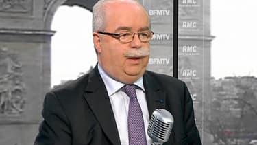 Christophe de Margerie, PDG de Total, ce vendredi sur RMC et BFMTV