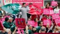 Plusieurs milliers de personnes ont participé mardi en France à des rassemblements contre l'adoption par les couples de même sexe. Organisés par Alliance Vita, ces rassemblements ont été organisés simultanément dans 75 villes -comme ici, à Lyon- sous form