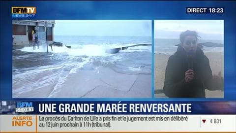 BFM Story: La montée des grandes marées sur les côtes de l'Atlantique - 20/02