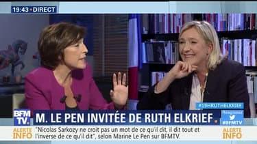 Marine Le Pen face à Ruth Elkrief (2/2)