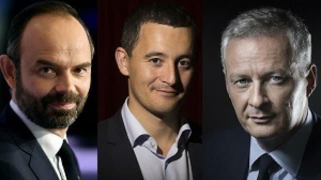 Edouard Philippe, Gérald Darmanin et Bruno Le Maire