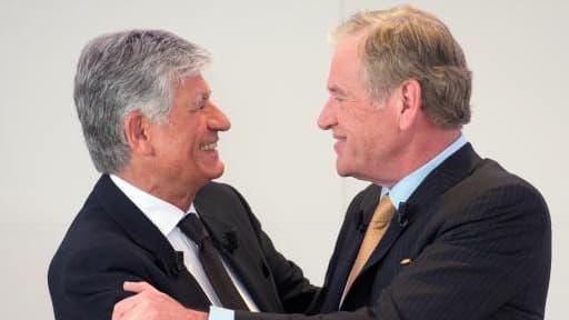 Il faut croire que les relations entre Maurice Lévy (à gauche) et John Wren (à droite) ne sont plus au beau fixe.