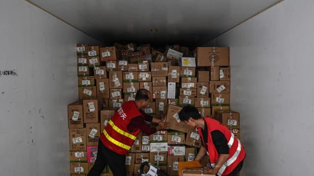 Un colis contenant des colis à livrer, en Chine. (photo d'illustration)