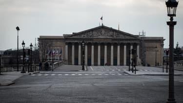 L'Assemblée nationale, à Paris, le 17 mars 2020.