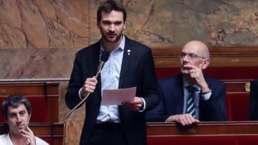 Le député de la France insoumise, Ugo Bernalicis, pendant une séance de questions au gouvernement  (Photo d'illustration)