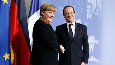 François Hollande et Angela Merkel, en janvier dernier.
