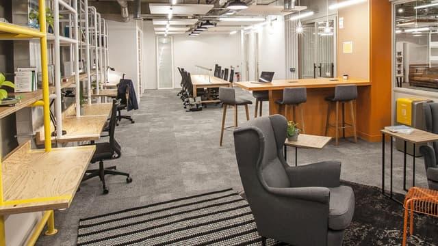 Le nouvel espace de la filial coworking de Bouygues à La Défense.