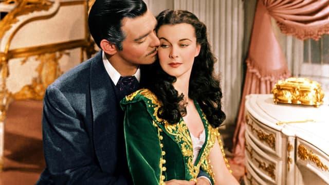 Autant en emporte le vent avec Vivien Leigh et Clark Gable.