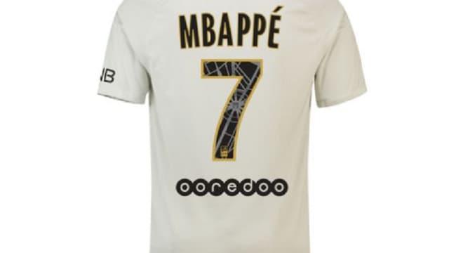Le maillot de Kylian Mbappé
