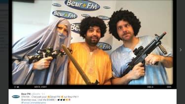 """""""Djihad FM"""", la matinale auto-parodiée de Beur FM, en réponse à l'attaque de Marianne."""