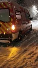 Neige Isère pompier bloques - Témoins BFMTV