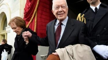 Jimmy Carter le 20 janvier 2017 - SAUL LOEB, POOL/AFP/Archives