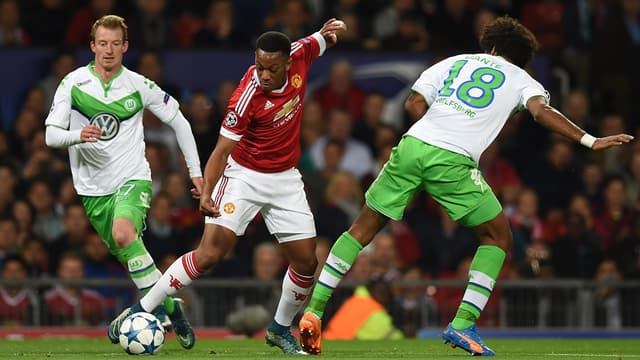 Anthony Martial face à Wolfsburg