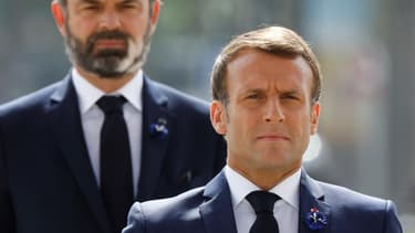 Emmanuel Macron et Edouard Philippe.