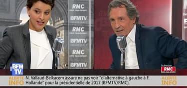 Najat Vallaud-Belkacem face à Jean-Jacques Bourdin en direct