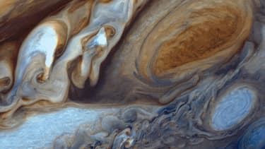 La Grande Tache rouge de Jupiter.