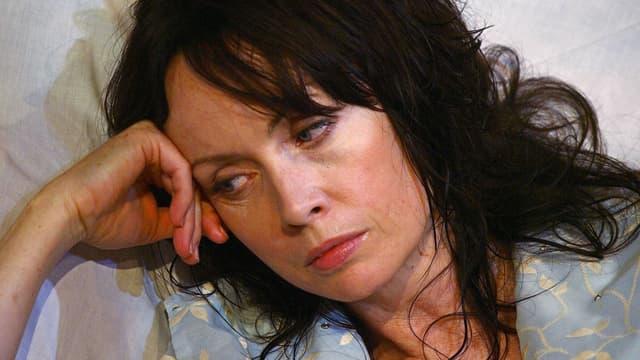L'actrice britannique Lysette Anthony dans une pièce de Tennessee Williams en 2009 à Londres.