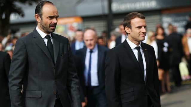 Edouard Philippe et Emmanuel Macron le 26 juillet 2017. -