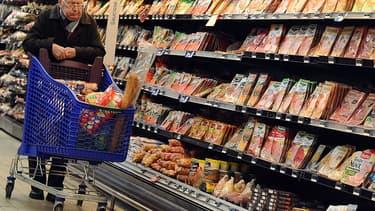 Dans les rayons d'un supermarché toulousain, le 28 novembre 2013.