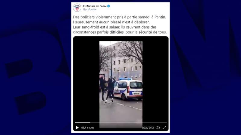 Pantin: des policiers caillassés pendant le tournage d'un clip, quatre interpellations