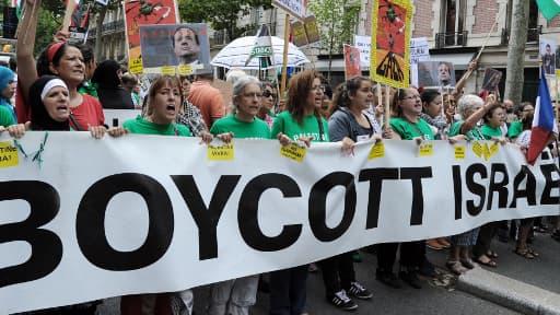 Des manifestants pro-palestiniens, ce samedi, à Paris.