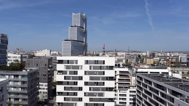 Vue du nouveau tribunal de justice de Paris, dans le 17e arrondissement