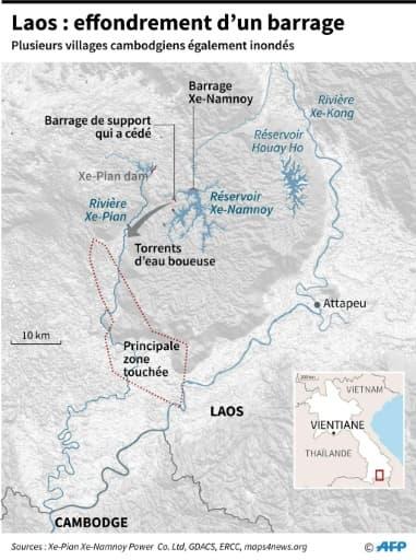 Laos : effondrement d'un barrage