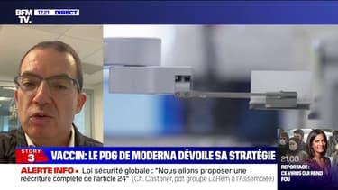 """Vaccin anti-Covid: Stéphane Bancel (Moderna) pense que les personnes vaccinées seront protégées pendant """"au moins 6 à 12 mois"""""""