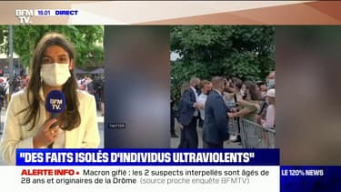 """Emmanuel Macron au sujet de la gifle: """"Il faut relativiser cet incident qui est, je pense, un fait isolé"""""""