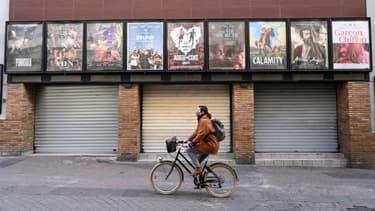 Un cinéma fermé pour cause de reconfinement à Montpellier, le 16 novembre 2020