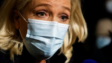 La présidente du RN Marine Le Pen le 27 octobre 2020 à Paris.