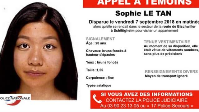 Un homme de 58 ans a été mis en examen pour assassinat, enlèvement et séquestration dans le cadre de la disparition de Sophie Le Tan, le 7 septembre dernier.