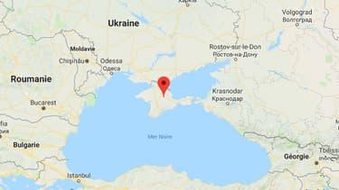 La péninsule de Crimée.