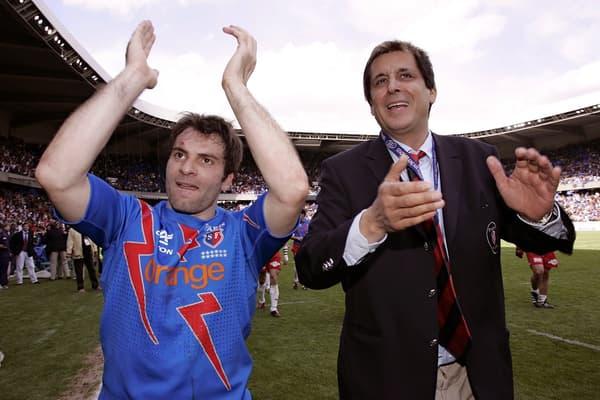 Christophe Dominici (à gauche) et Max Guazzini