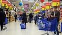 Un supermarché. illustration