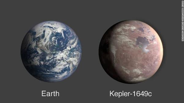 La Terre et Kepler-1649c