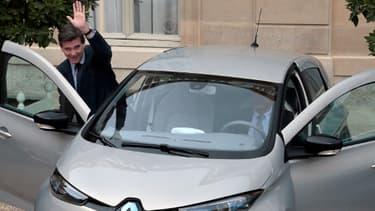 Arnaud Montebourg à bord de sa Renault Zoe, mercredi 3 octobre