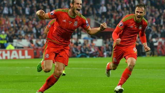 Gareth Bale (à gauche) et Aaron Ramsey, le duo de feu du pays de Galles