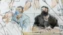 Salah Abdeslam dans le box des accusés ce mercredi.