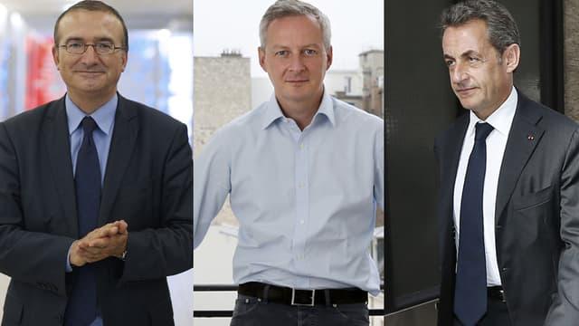 Des trois candidats à la présidence de l'UMP, Nicolas Sarkozy arrive en tête.