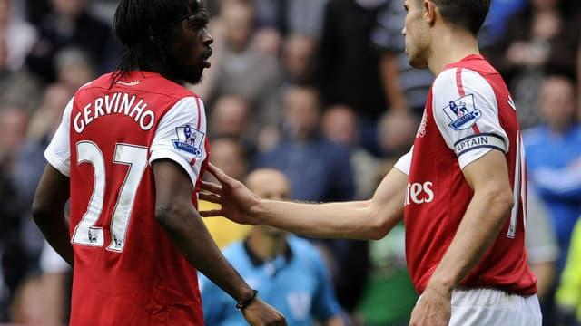 Gervinho avec le maillot d'Arsenal