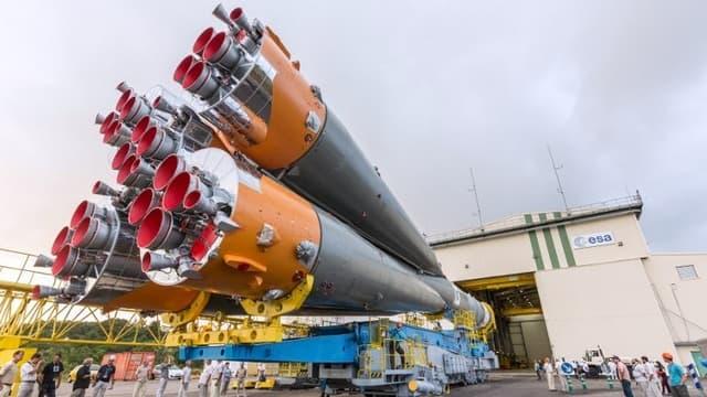 Une fusée Soyouz. Image d'illustration.