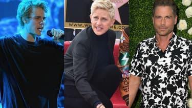 Justin Bieber, Ellen Degeneres et Rob Lowe sont tous trois concernés par les violents incendies qui ravagent le nord de Los Angeles.