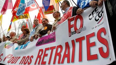 Les syndicats français estiment mardi avoir gagné leur pari de mobiliser plus de deux millions de personnes contre la réforme des retraites, comme ici à Lille, pour obliger le gouvernement à modifier son projet en profondeur. /Photo prise le 7 septembre 2