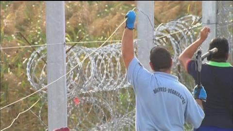 Crise des migrants: la Hongrie ferme ses frontières avec des barbelés